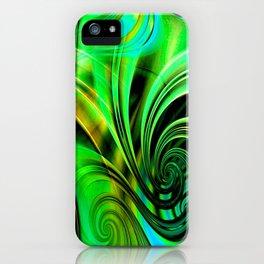 Curls Deluxe Green iPhone Case