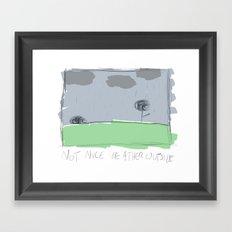 not so nice weather Framed Art Print