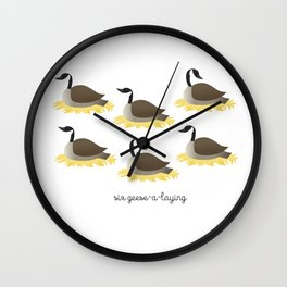 Six Geese-a-laying Wall Clock