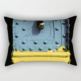 Abstract Art Design on Steel Beam Rectangular Pillow