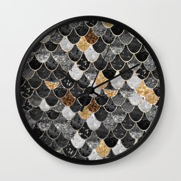 REALLY MERMAID BLACK GOLD Wall Clock