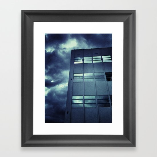 Stormy Windows Framed Art Print