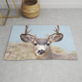 Watercolor Deer, Mule 15, Estes Park, Colorado, Teeth-gritter Rug