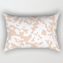 Spots - White and Desert Sand Orange Rectangular Pillow