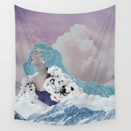 Lady of the Mountain Wall Tapestry