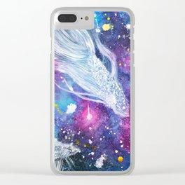 Galaxy Bettas Swimming Through Space Clear iPhone Case