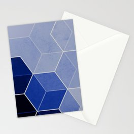 Navy Blue Composition 1 Stationery Cards