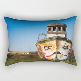 An Wooden old Ship 1 Rectangular Pillow