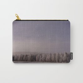 Snow and Stars Carry-All Pouch