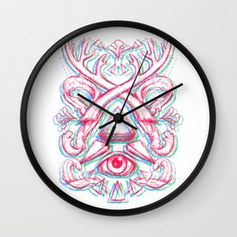 Psychedelic art Wall Clock