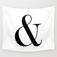 ampersand Wall Tapestries featuring Ampersand by Claraivy