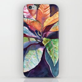 Colorful Tropical Leaves 3 iPhone Skin