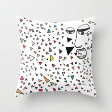 Sick of happiness Throw Pillow