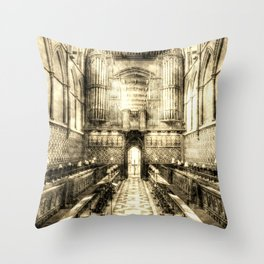 Rochester Cathedral Vintage Throw Pillow