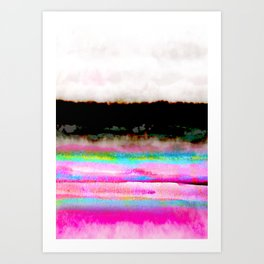 abstract landscape colorful modern painting Art Print