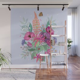 Anemones & Honeysuckle Wall Mural