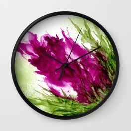 Puffed Fushia Wall Clock