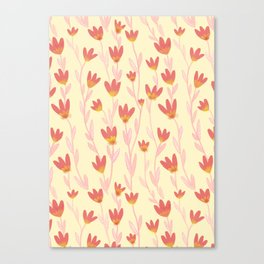 Red Tulips Pattern Canvas Print