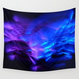 BLUE GLOWSTICKS Wall Tapestry