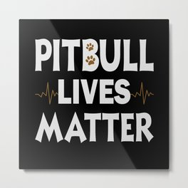Dogs Pitbulls Pitbulls Pitbull Clothing Dog Stops Metal Print