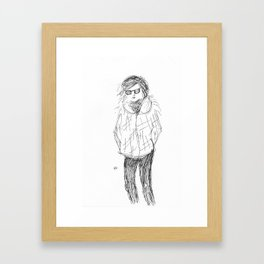 Lady in cool shades Framed Art Print