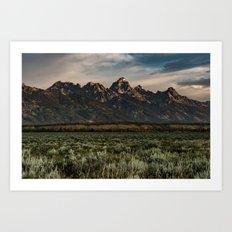 Grand Tetons - Jackson Hole Wyoming Art Print