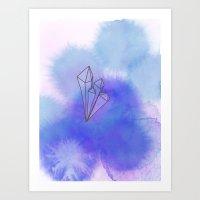 Crystal blues Art Print