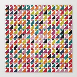 Colorful Geometric Pattern #05 Canvas Print