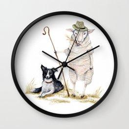 Sheepherd Sheep Wall Clock