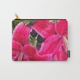 Pink Lilies Carry-All Pouch