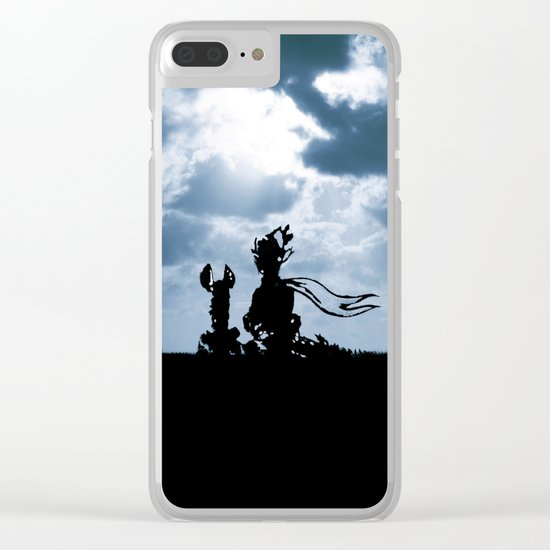 The little prince and the fox - dream version blue - quote Clear iPhone Case