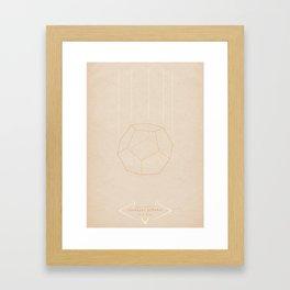 Geo Ponderat | QUADRIVIUM - MINIMALIST POSTER Framed Art Print