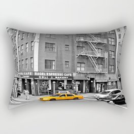 NYC - Yellow Cabs - Bagel Cafe Rectangular Pillow