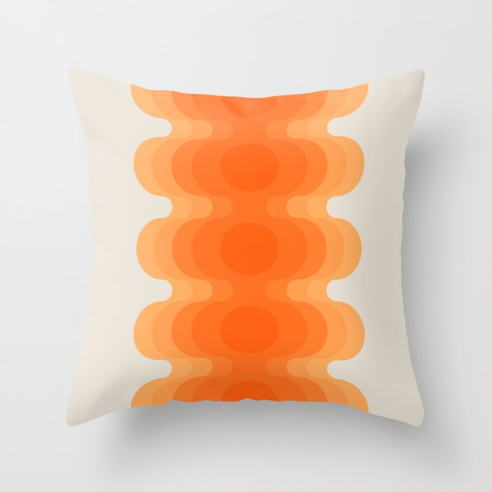Echoes - Creamsicle Throw Pillow