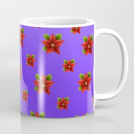 Red Flowers Pattern 3 Coffee Mug