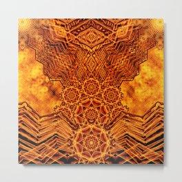 Fire Elemental Temple Metal Print