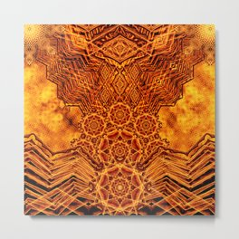 Fire Elemental Temple Metal Print