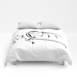 A simple flying dragon Comforters