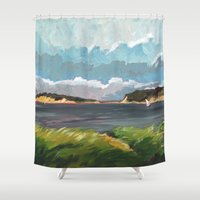 cape cod Shower Curtains featuring Wells Fleet Cape Cod by Gord Coulthart