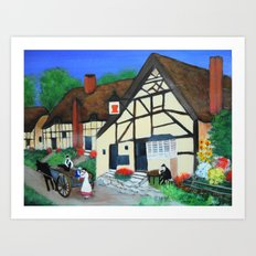 Old Village  Art Print