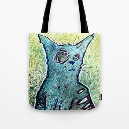 Kuro the Zombie Cat Tote Bag