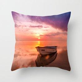 The Best Sunset Throw Pillow