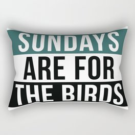 Sundays are For The Birds Rectangular Pillow
