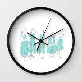 Bridesmaids (aqua) Wall Clock
