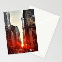 Manhattan Sunset (NYC Street Photography) Stationery Cards