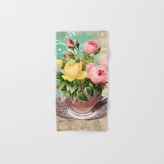 Tea Flowers #2 Hand & Bath Towel