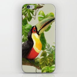Toucans and Bromeliads (Canvas Background) iPhone Skin