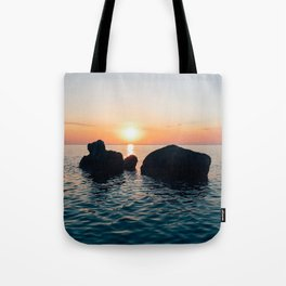 Sunset by the Sea // Landscape Photography Tote Bag