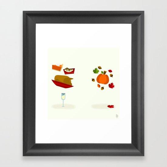 Thanksgiving & Fall Framed Art Print