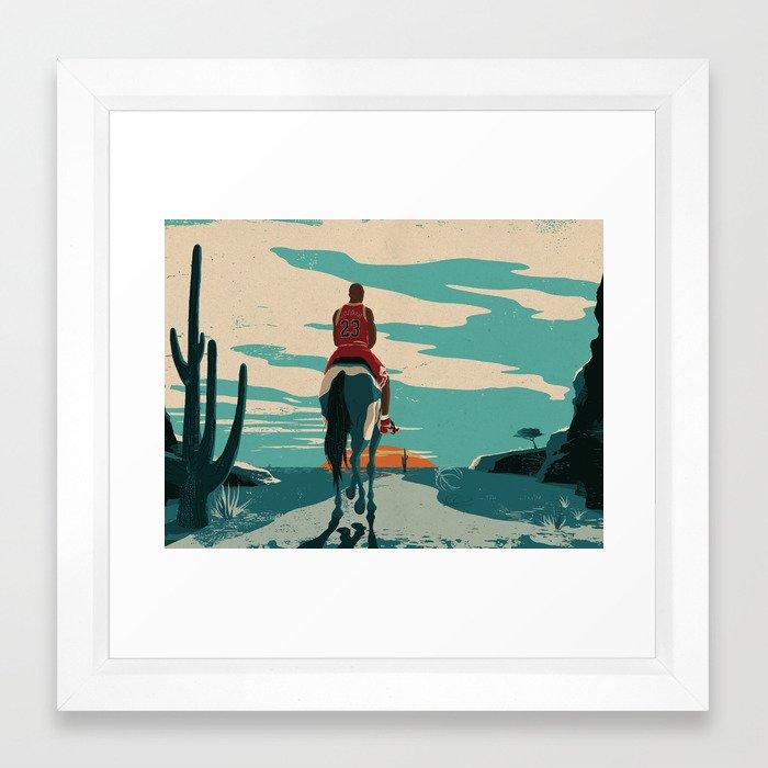 Michael Jordan ESPN Feature 1 Framed Art Print by marksmith | Society6